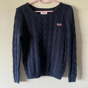 Navy Blue Hollister Women Sweater Large
